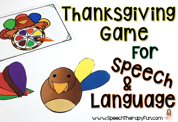 Speech and Language Thanksgiving Activity